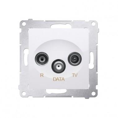 Gniazdo R-TV-DATA SIMON 54 biały DAD.01/11