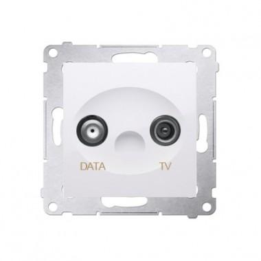 Gniazdo TV-DATA SIMON 54 biały DAD1.01/11