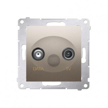 Gniazdo antenowe TV-DATA tłum.:5dB SIMON 54 - złoty mat, metalizowany DAD1.01/44