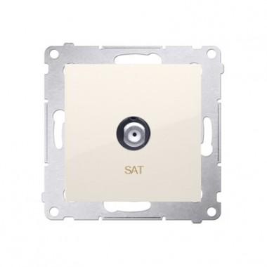 Gniazdo antenowe SAT pojedyncze SIMON 54 krem DASF1.01/41