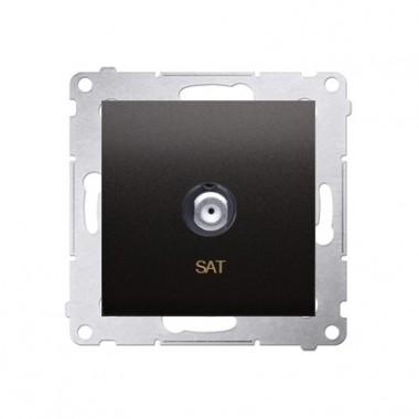 Gniazdo antenowe SAT pojedyncze SIMON 54 antracyt DASF1.01/48