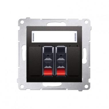 Gniazdo głośnikowe 2-krotne SIMON 54 antracyt DGL32.01/48