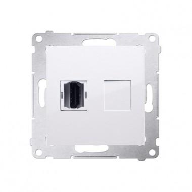 Gniazdo HDMI SIMON 54 biały DGHDMI.01/11