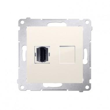 Gniazdo HDMI SIMON 54 kremowy krem DGHDMI.01/41