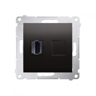 Gniazdo HDMI SIMON 54 antracyt DGHDMI.01/48