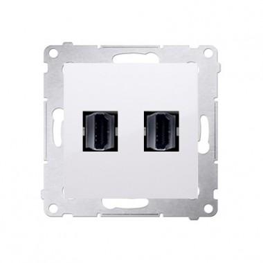 Gniazdo HDMI podwójne SIMON 54 biały DGHDMI2.01/11