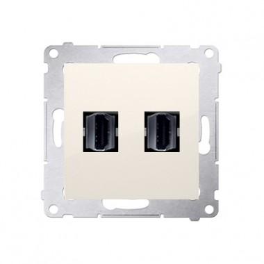 Gniazdo 2xHDMI SIMON 54 kremowy DGHDMI2.01/41