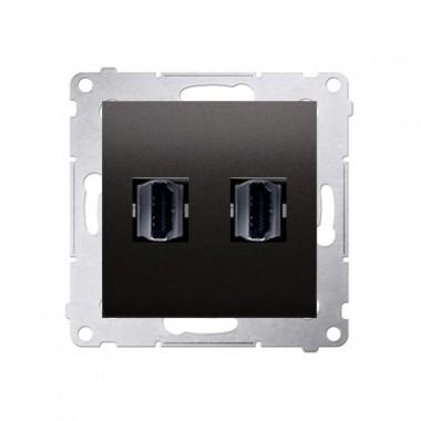 Gniazdo 2xHDMI SIMON 54 antracyt DGHDMI2.01/48