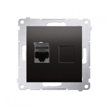 Gniazdo komputerowe 1xRJ45 kat. 6 SIMON 54 antracyt D61.01/48