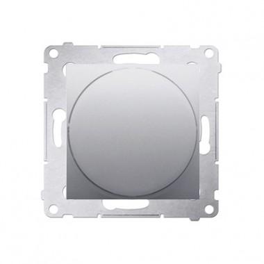 Ściemniacz przyciskowo-obrotowy 20W-500W SIMON 54 - srebrny mat DS9T.01/43