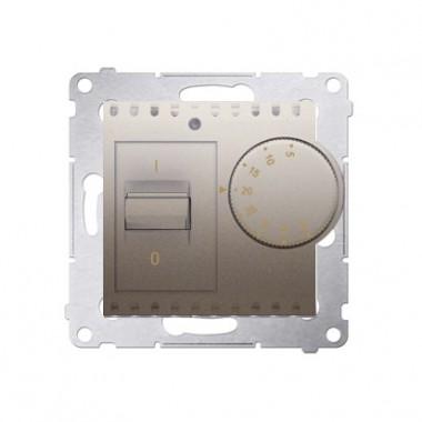 Regulator temperatury pomieszczenia SIMON 54 - złoty mat DRT10W.02/44