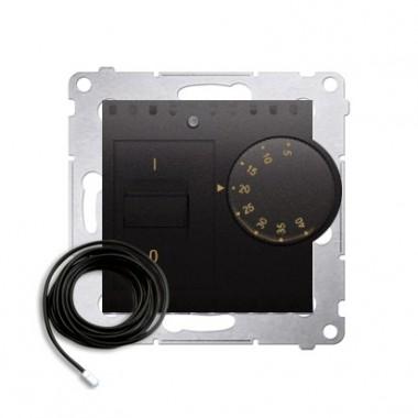 Regulator temperatury z czujnikiem zewnętrznym. W komplecie czujnik zewnętrzny (sonda). DRT10Z.02/48