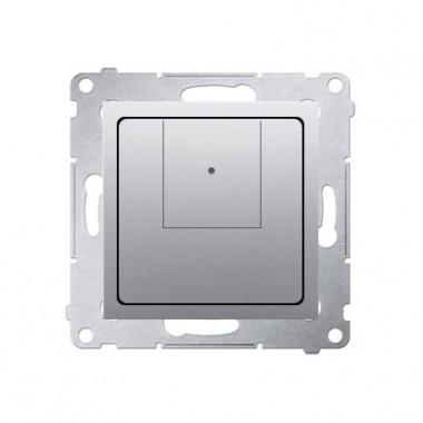 Ściemniacz dwuprzyciskowy (moduł) 40–500 W (300 VA), srebrny mat D75310.01/43
