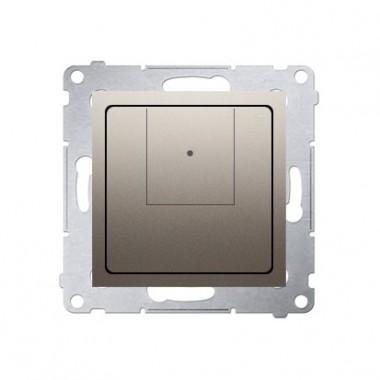 Ściemniacz dwuprzyciskowy (moduł) 40–500 W (300 VA), złoty mat D75310.01/44
