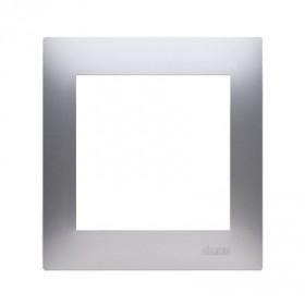 Ramka 1-krotna PREMIUM IP20 / IP44, srebrny mat DR1/43