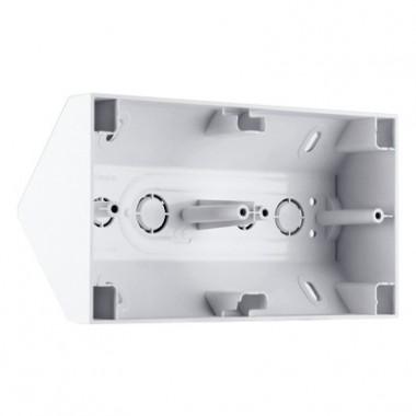Puszka natynkowa narożna podwójna SIMON 54 PREMIUM biały DPNR2/11