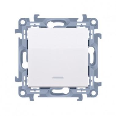 łącznik jednobiegunowy z podświetleniem LED (moduł) 10AX, 250V~,  biały CW1L.01/11