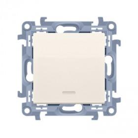 łącznik jednobiegunowy z podświetleniem LED (moduł) 10AX, 250V~,  krem CW1L.01/41