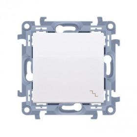 Łącznik schodowy (moduł) 10AX, 250V~,  biały CW6.01/11