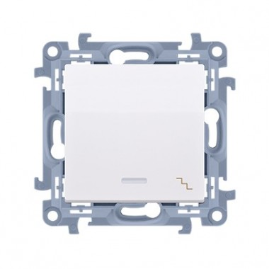 Łącznik schodowy z podświetleniem LED (moduł) 10AX, 250V~,  biały CW6L.01/11