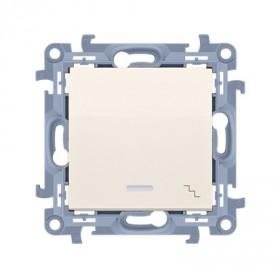 Łącznik schodowy z podświetleniem LED (moduł) 10AX, 250V~,  krem CW6L.01/41