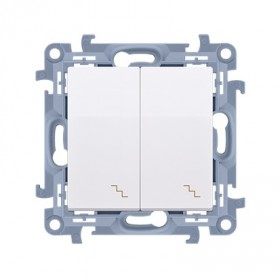 Łącznik schodowy podwójny (moduł) 10AX, 250V~,  biały CW6/2.01/11