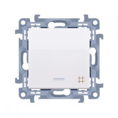 Łącznik krzyżowy z podświetleniem LED (moduł) 10AX, 250V~,  biały CW7L.01/11