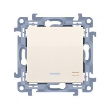 Łącznik krzyżowy z podświetleniem LED (moduł) 10AX, 250V~,  krem CW7L.01/41
