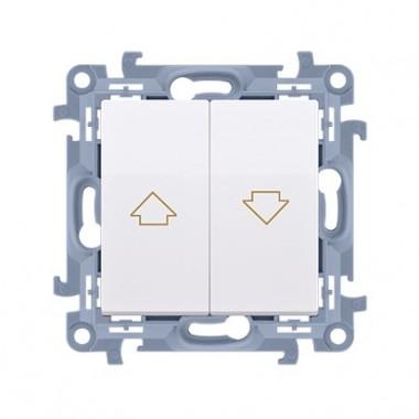 Łącznik żaluzjowy (moduł) 10A, 250V~,  biały CZW1.01/11