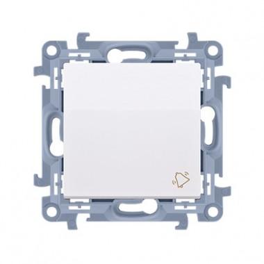 """Przycisk """"dzwonek"""" (moduł) 10AX, 250V~,  biały CD1.01/11"""