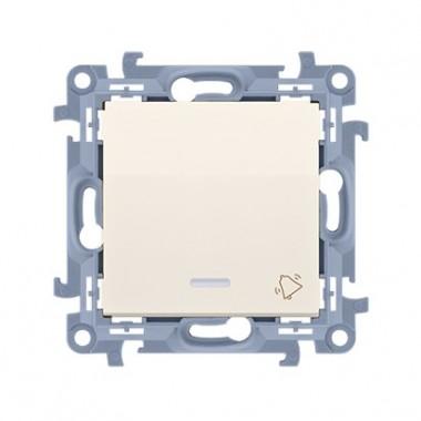 """Przycisk """"dzwonek"""" z podświetleniem LED (moduł) 10AX, 250V~,  krem CD1L.01/41"""