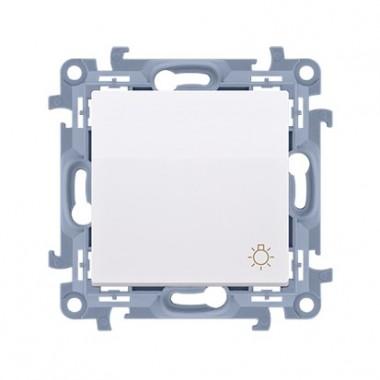 """Przycisk """"światło"""" (moduł) 10AX, 250V~,  biały CS1.01/11"""