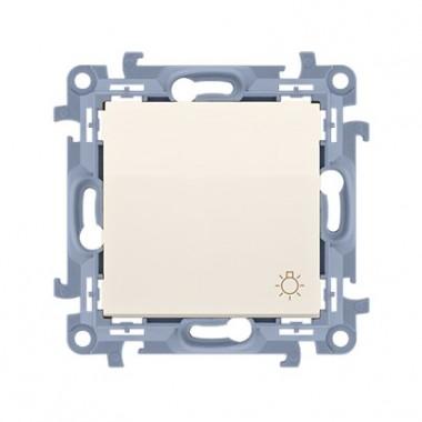 """Przycisk """"światło"""" (moduł) 10AX, 250V~,  krem CS1.01/41"""