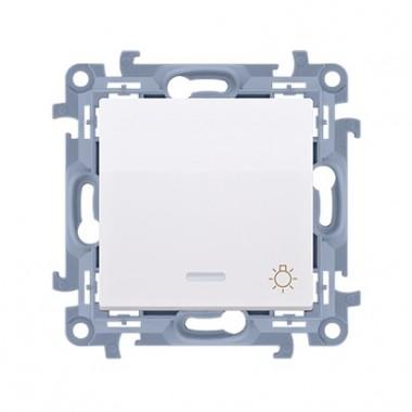 """Przycisk """"światło"""" z podświetleniem LED (moduł) 10AX, 250V~,  biały CS1L.01/11"""