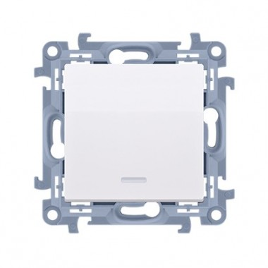 Przycisk bez piktogramu z podświetleniem LED (moduł) 10AX, 250V~,  biały CP1L.01/11