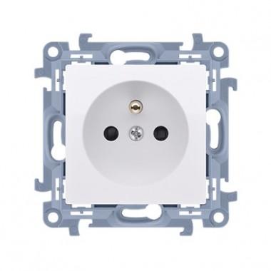 Gniazdo wtyczkowe z uziemieniem pojedyncze (moduł) SIMON10 biały CGZ1.01/11