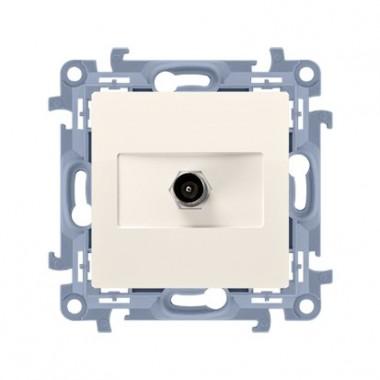 Gniazdo antenowe pojedyncze końcowe (moduł). Do instalacji indywidualnych, krem CAK1.01/41