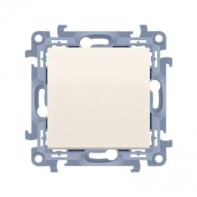 Zaślepka ramki (moduł). Mocowanie za pomocą łapek lub wkrętów, krem CPS.01/41