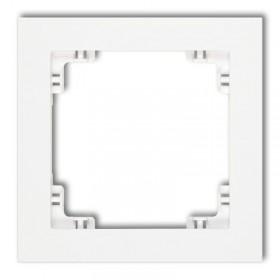 Ramka uniwersalna pojedyncza Karlik DECO DR-1 biały
