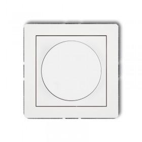 Mechanizm elektronicznego regulatora oświetlenia przyciskowo-obrotowego do lamp LED Karlik DECO DRO-2 biały