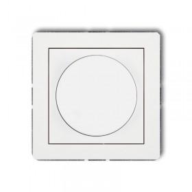 Mechanizm elektronicznego regulatora oświetlenia przyciskowo-obrotowego Karlik DECO DRO-1 biały