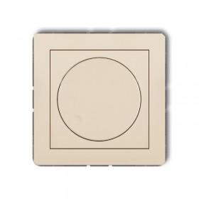 Mechanizm elektronicznego regulatora oświetlenia przyciskowo-obrotowego do lamp LED Karlik DECO 1DRO-2 beżowy