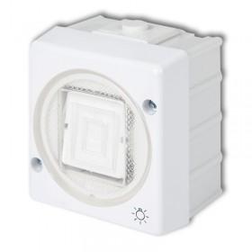 Łącznik zwierny światło podświetlany Karlik SENIOR WHS-5L biały