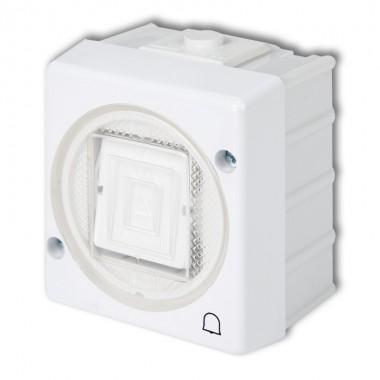 Łącznik zwierny dzwonek podświetlany Karlik SENIOR WHS-4L biały