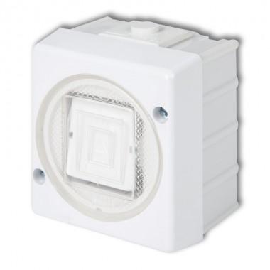 Łącznik jednobiegunowy podświetlany Karlik SENIOR WHS-1L biały