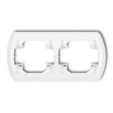 Ramka pozioma podwójna Karlik TREND RH-2 biały