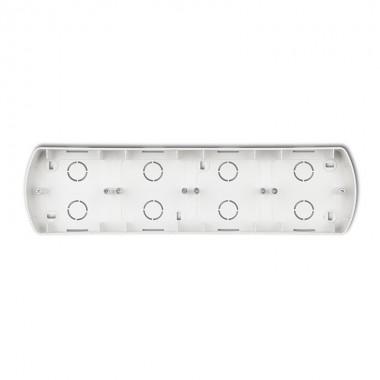 Puszka montażowa pozioma poczwórna Karlik TREND 7PTH-4 srebrny metalik
