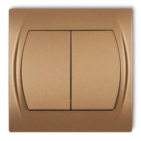 Łącznik zwierny, świecznikowy Karlik LOGO 8LWP-44.1 złoty metalik