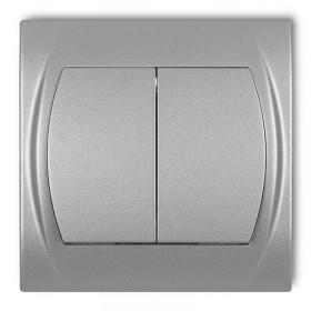 Łącznik zwierny, świecznikowy Karlik LOGO 7LWP-44.1 srebrny metalik