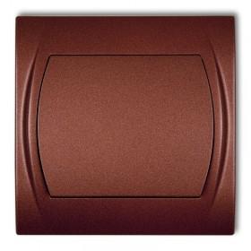 Łącznik zwierny, jednobiegunowy Karlik LOGO 9LWP-4.1 brązowy metalik
